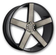 """22"""" DUB Baller Black DDT Wheels Rims 6x5.5 6 lug Chevy GMC Escalade Truck"""
