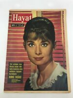 HAYAT (LIFE) #3 - Turkish Magazine - 1960s - AUDREY HEPBURN COVER - Ultra Rare