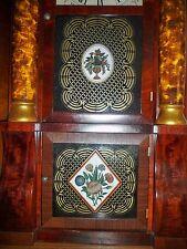 2 Seth Thomas Glass Tablets Triple Decker Empire - Antique Clock Parts -New Size