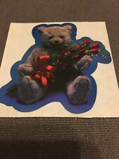 Vintage 80s sticker Exclamations teddy bear With Roses 1983