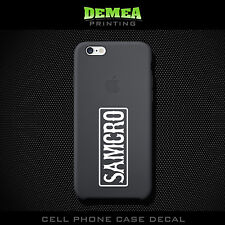 Samcro - Cell Phone Vinyl Decal Sticker - iPhone - Choose Color (X2)