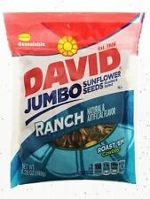David Jumbo RANCH 5.25oz Sunflower Seeds  Roasted and Salted seed