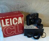 """Leitz Wetzlar - Leica CL Kit Minolta Rokkor-M 1:4/90mm """"aus Sammlung"""" - TOP!"""