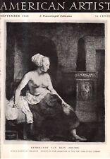 1948 American Artist September - Berman; Brastoff; Pousette-Dart; Mezzotint