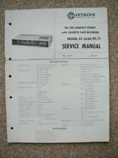 service manual for Hitachi ST-2650 BS , S