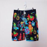 Insight NWT Mens Size W30 Black Splendour Board Shorts Bright Colourful Festival