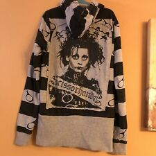 Ripple Junction Womens Fit Hot Topic Edward Scissorhands Gray Zip-Up Hoodie Sz S