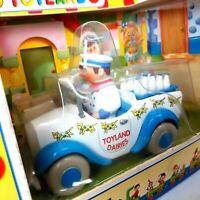 Vintage 90s Noddy Toyland Die Cast Car Lledo Mr Milko's Milk Van MINT in Box