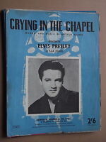 ELVIS PRESLEY - CRYING IN THE CHAPEL sheet music
