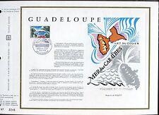 DOCUMENT CEF PREMIER JOUR  1970  TIMBRE N° 1646 ILET DE GOSIER GUADELOUPE