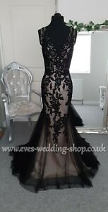Chloe Jai black-gold wedding dress Uk 8 - check measurements