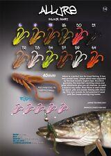 8 leurre souple Allure CRAZY FISH 40mm  pêche streetfishing perche bass brochet