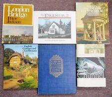 English Pubs Cottages Country Houses Chunnel London Bridge 6 books Literary
