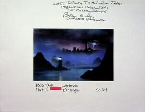 Disney's TALESPIN 1989 SIGNED Brian Ray PRODUCTION BACKGROUND COPY Disney #RB