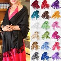 Winter Ladies Shawl Pashmina Scarf Plain Vintage Wrap Mens Scarves Shawl Tassel