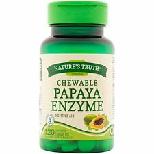 Natures Truth Chewable Papaya Enzyme 120 Tablets Each