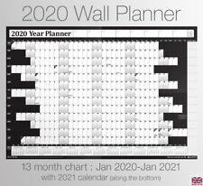 2020 Year Wall Planner ✔Staff ✔Holiday ✔Calendar ✔Chart + FREE Desktop Calender