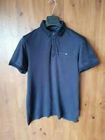 TED BAKER POLO TOP Black Short Sleeve T-Shirt SIZE 3 / MEDIUM - VGC