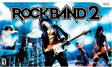 NEW Nintendo Wii Rock Band 2 Special Edition Bundle Kit Guitar Drums Game & Mic