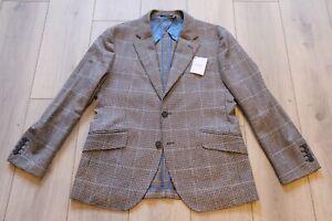 Hackett Mayfair Sport Coat Blazer Wool Cashmere Houndstooth 40S BNWT