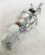 """55-57 Chevy 7"""" Dual Power Booster + Smooth Master Cylinder & Bracket Kit CHROME"""