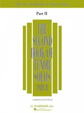 The Second Book of Tenor Solos Part II Book Only Vocal Collection NEW 050485223