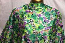 L/Weight Liquid Satin Bright Floral African Print 3 Dress/Craft Fabric*FREE P&P*