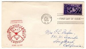 Baseball #855 First Day Cover 1939 Planty #100a