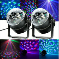RGB LED Crystal Magic Ball Stage Effect Lighting Lamp Party Disco Club DJ