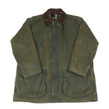 BARBOUR Border Wax Jacket | Waterproof Rain Waxed Cord Collar Vintage A200