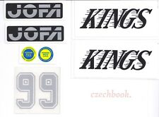 Replicated Vintage Jofa VM Helmet 225 & 235 51 Stickers Gretzky Kings SIlver 99