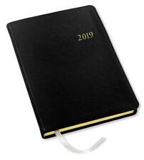 2019 Gallery Leather Monthly Weekly Desk Planner Agenda Calendar Black Cartier