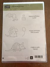 """Stampin' Up! """"Little Buddy Birthday"""" Wood Mount Stamp Set (Retired)"""