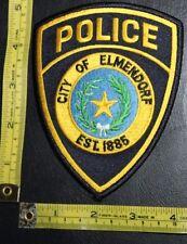 City of Elmendorf Texas Police Department Shoulder Patch Law Enforcement