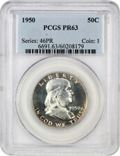 1950 50c PCGS PR 63 - Popular First Year Proof - Franklin Half Dollar