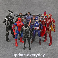 10pcs Iron Man Action Figure Toy Avengers Age of Ultron Thor Captain America