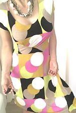 CHARLIE BROWN WOMENS VINTAGE DRESS PRINTED STRETCHY MADE IN AU SZ 10