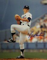 Burt Hooton Original Hand Signed Autograph 11x14 Photo Los Angeles Dodgers Blue