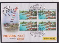 BRD-2000-Briefm.-Ausst.-Beleg-NORDIA 2000 Sollentuna/Stockholm-17.-19.-03. 2000