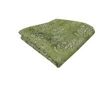 Mens Sage Green Tie Handkerchief Silk Floral Pocket Square Napkin Paisley Hanky