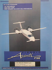 1991-92 PUB RINALDO PIAGGIO AVANTI P180 ITALIAN EXECUTIVE AIRCRAFT ORIGINAL AD