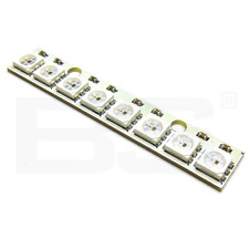 WS2812B RGB bande 8 LED couleur 5050 24bit 800Kbps 1024 points 5.0V Arduino