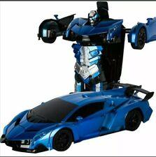Transformation Deformation Robot Toy Car.   2 x Toy cars, 1x Blue,1xYellow
