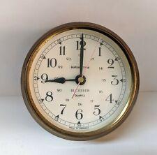 Rare Vintage Bucherer Marine Time Clock Porthole Quartz Brass Made in Germany