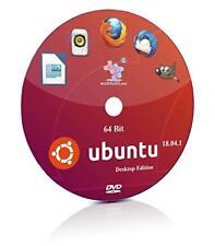 Linux Ubuntu Desktop 18.04 64bit Live Bootable DVD Rom Linux Operating System