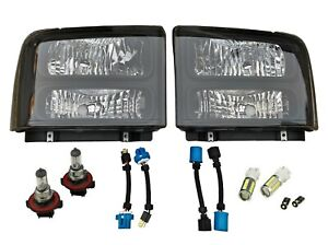 Crystal Headlights Black fits 1999-2004 Ford Superduty Excursion Conversion 2007