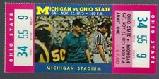 1975 NCAA OHIO STATE BUCKEYES v MICHIGAN WOLVERINES  FULL UNUSED FOOTBALL TICKET