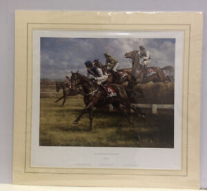 Tote Cheltenham Gold Cup Chase 1998- Limited Edition *Mounted*  Graham Isom