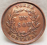 🍁 LC-39 Bouquet Sou Token Montreal Lower Bas Canada Quebec Breton 711 Canadian