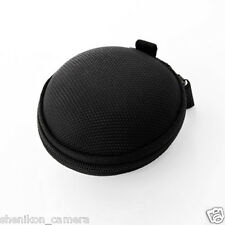 New Earphone Headphone Hard Carrying Travel Dome Case Round Black For Westone